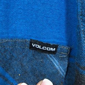 Volcom Shirts - Volcom Men's Blue & Black Flannel Shirt - XL